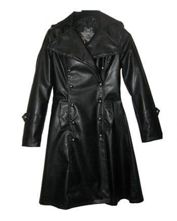 Imitation Leather Uniform Coat L