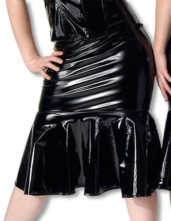 Vinyl skirt with lacing