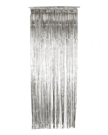 Lametta Vorhang silber