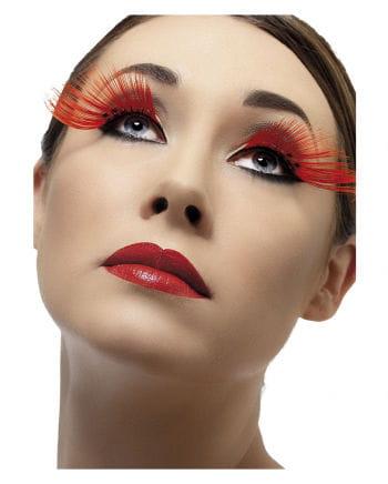 Long eyelashes red