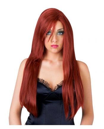 Long Hair Wig For Ladies Mahagonirot