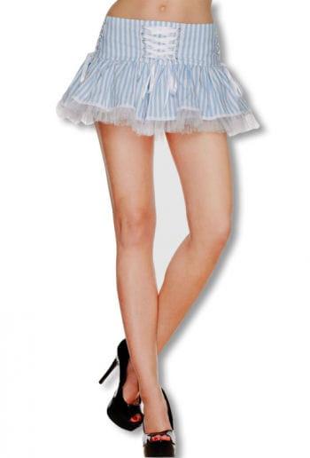 Laura Mini Skirt Weiss Blau