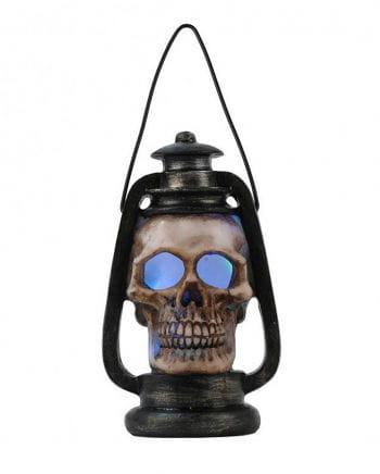 Totenkopf Laterne mit wechselndem LED-Licht