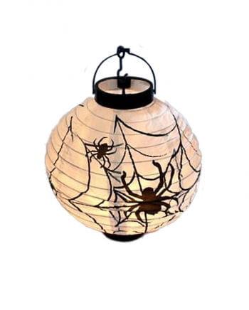 LED lantern with spider motif