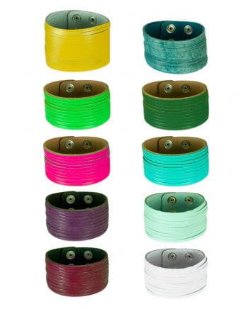 slotted leather bracelet div. colors