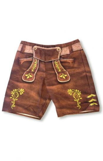 Leather pants swim shorts