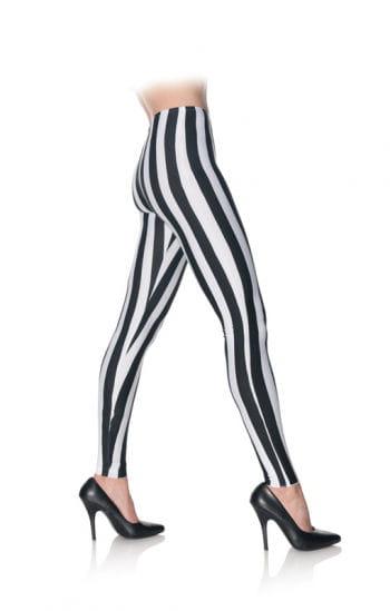 Leggings schwarz weiß gestreift