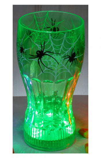 Light Up Halloween Drinking Glass Spider