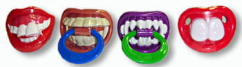 Funny teeth Lolly in different denture designs
