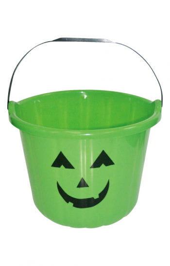 Funny Halloween Bucket Green