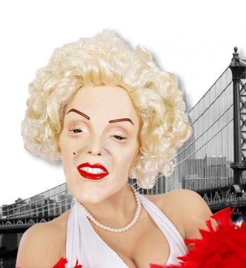 Marilyn Foam Latex Mask with Wig