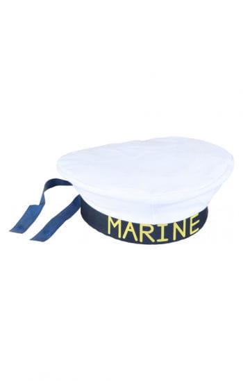 Marine cap white / blue