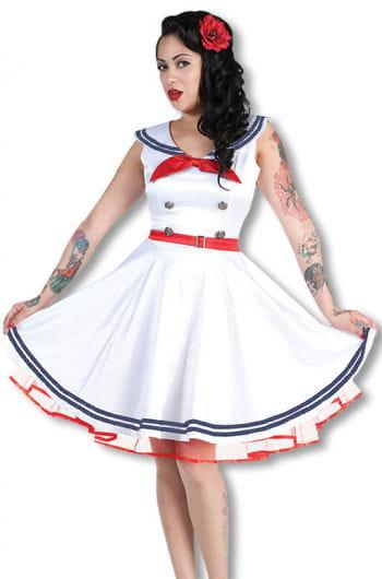 Sailor dress white red