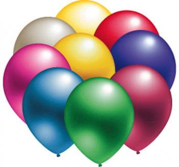 Metallic Luftballons 50 St. sortiert