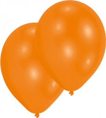 Metallic Orange Luftballons 50 St.