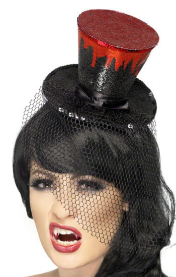 Mini Hat with Drips of Blood