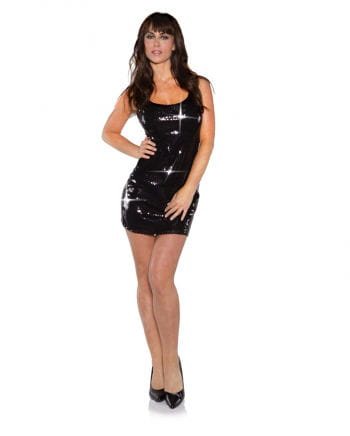 Mini Paillettenkleid schwarz