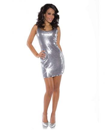 Mini Sequin Dress silver