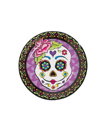 Mini paper plate Day of the Dead 8 St.