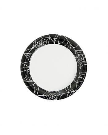 Mini paper plates cobwebs 40 St.