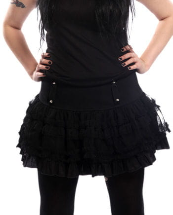 Mini skirt with rivets black