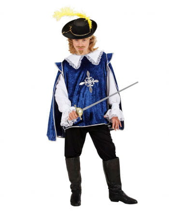 Musketeer Child Costume Blue L