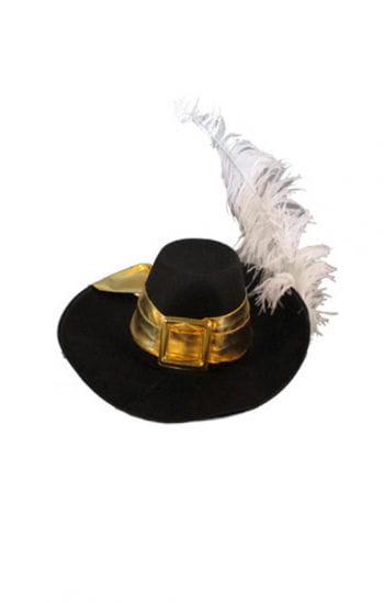 Musketier Hut mit weißer Feder