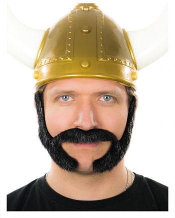 Mutton chops beard black