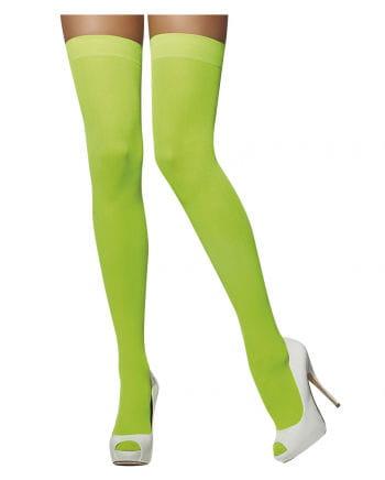Overknees Neongrün
