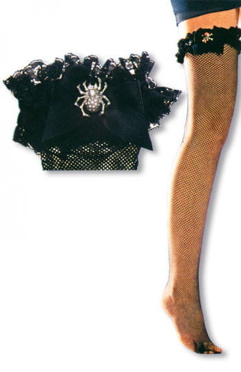 Fishnet Stockings with Spider