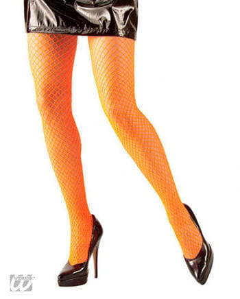 Fishnet Tights Neon Orange