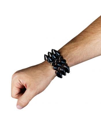 Nieten Armband silber/schwarz