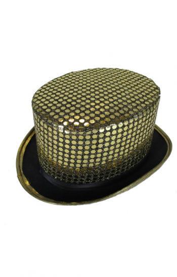 Sequins cylinder gold / black