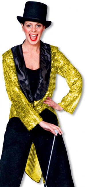 Sequined Tailcoat Gold