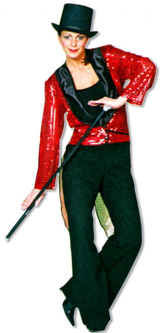 Sequin Tailcoat Red