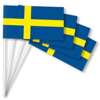 Paper flags Sweden 50 pieces