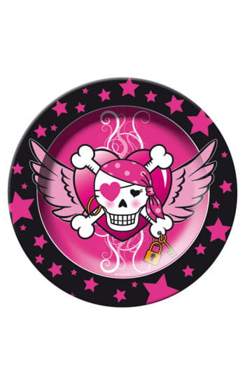 Pirate Girl Paper Plates