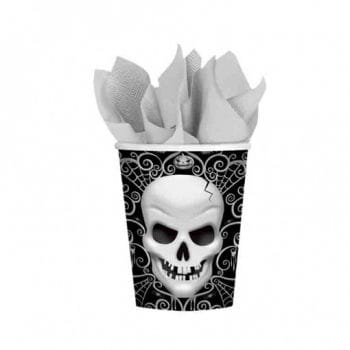 Paper cup with skull