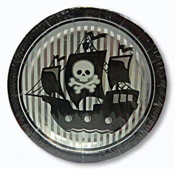 Pappteller Piraten in Sicht 8er Set