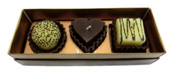 Perfumed candles chocolates