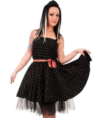 Mini petticoat dress with cherries