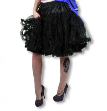 Petticoat mit Rüschen schwarz