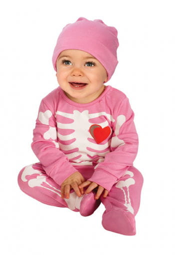 Pink Skeleton Babykostüm