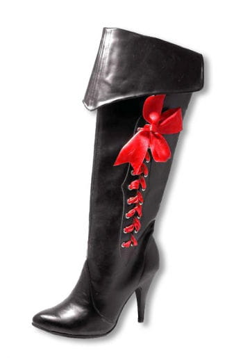 Pirate boots with red bow