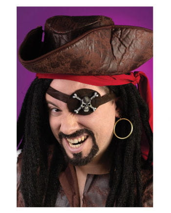 Pirate eye patch and earring