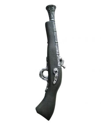 Piratenpistole schwarz/silber