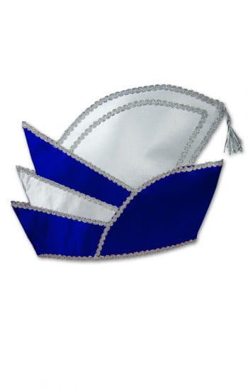 Prinzenmütze blau/weiß