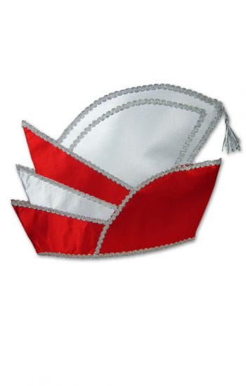 Carnival Prince Hat Red/White