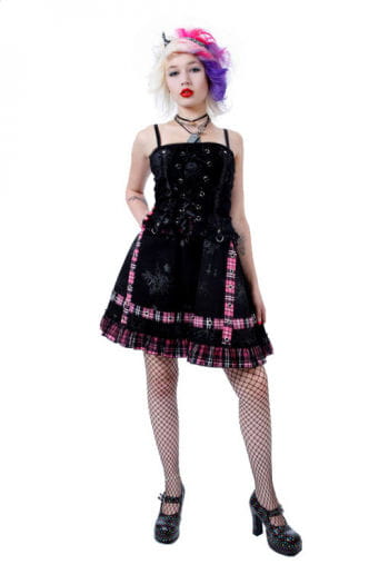 Punk Mini Dress Pink Small