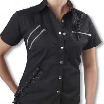 Punk Hemd schwarz